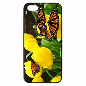For Case Ipod Touch 4 Cover - Butterflies Flowers Patterned Protective Skin Hard For Case Ipod Touch 4 Cover - Haxlly Designs Case