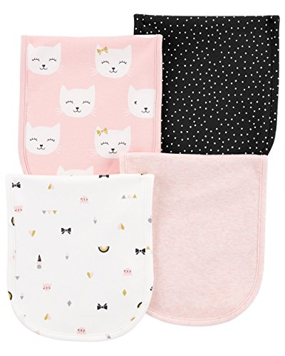 Carters Baby Girls 4-Pack Burp Cloths by Carter's