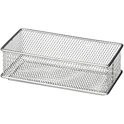Design Ideas Mesh Drawer Store, Silver, 3 X 12-Inches