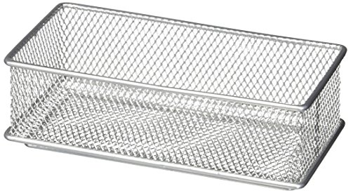 Design Ideas Mesh Drawer Store, Silver, 6 by 9-Inch (2)