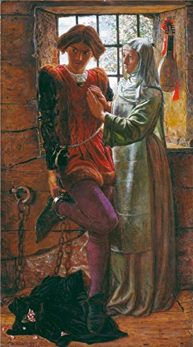 [The High Quality Polyster Canvas Of Oil Painting 'William Holman Hunt - Claudio And Isabella,1850' ,size: 20x36 Inch / 51x91 Cm ,this Replica Art DecorativeCanvas Prints Is Fit For Bathroom Gallery Art And Home Decoration And Gifts] (Holman Replacement Filter)