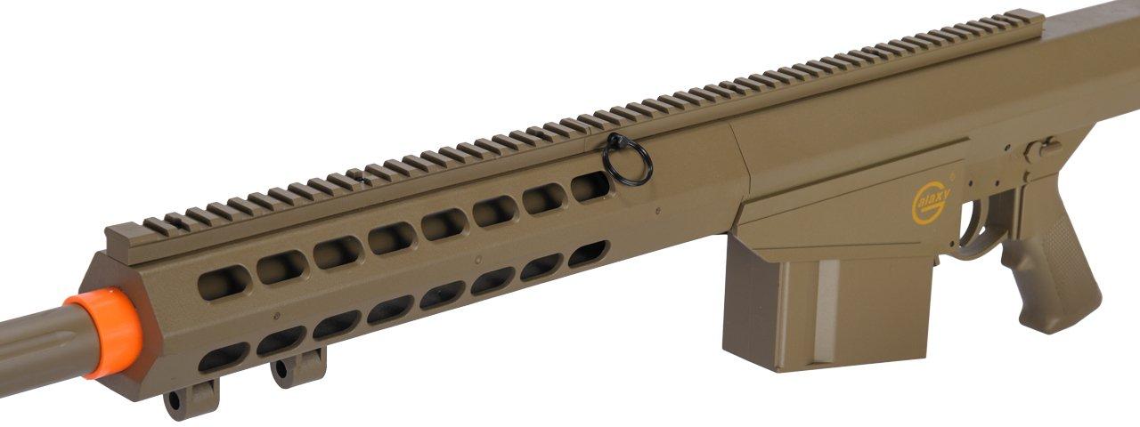 Lancer Tactical M82 50 Cal Spring Airsoft Sniper Rifle Gun Marksman FPS 435 (Tan) by Lancer Tactical (Image #3)