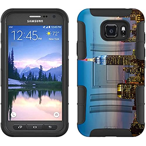 Samsung Galaxy S7 Active Armor Hybrid Case Red White and Blue New York 2 Piece Case with Holster for Samsung Galaxy Sales