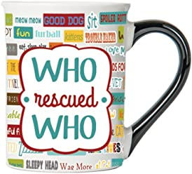 Who Rescued Who Mug, Pet Mug, Gifts for Cat Lovers, Pet Coffee Cup, Ceramic Mug, Pet Gifts By Tumbleweed