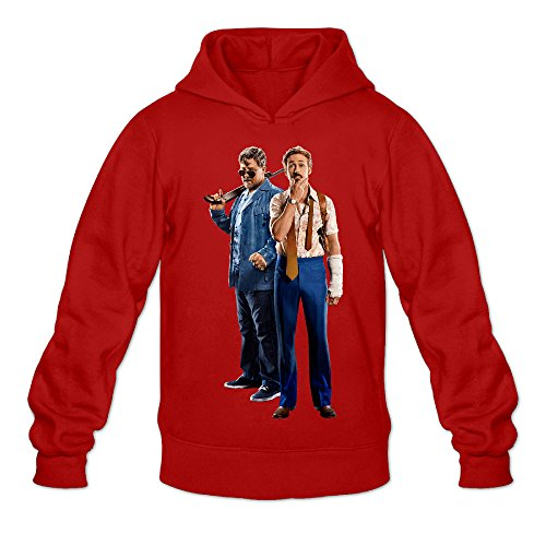 The Nice Guys Men's Long Sleeve Pullover Hoodie Red US Size XL