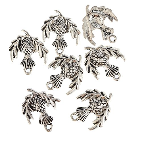 Scottish Thistle Jewellery (YEYULIN Tibetan Silver Bead Charms Alloy Pendants Fit Bracelet 30pcs (SCOTTISH THISTLE PLANT))
