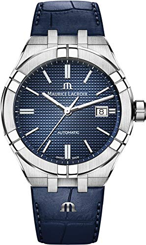 Maurice Lacroix Aikon Gents Automatic Watch, 42 mm, Blue, AI6008-SS001-430-1