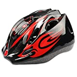 Kids Cycling Helmet, HiCool Riding Helmet, Multi-Use Kids Helmet for Cycling and Outdoor Sports (Black/Red, standard)
