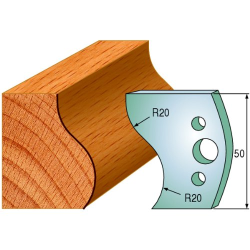 CMT 690.571 Profiled Knives for Shaper Cutters, 1-31/32-Inch Cutting Length, 5/32-Inch Thickness - 2-Pack