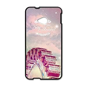 HTC One M7 Cell Phone Case Black_Way Of Travel Uwrmg