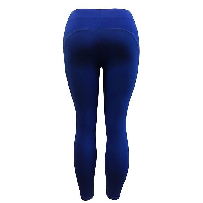 Pantalones Yoga Mujeres, Yusealia Sólid Leggins Fitness ...