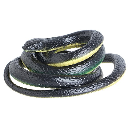 Novelty Fun Toy 130cm Soft Rubber Snake Safari Garden Props Prank Funny Gadgets Halloween Jokes Toys