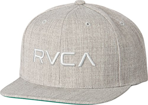 rvca-mens-twill-snapback-hat-grey-heather-one-size