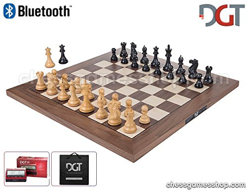 - DGT BLUETOOTH Walnut e-Board with EBONY pieces - Electronic chess - chessgamesshop_com + DGT PI + BAG Black