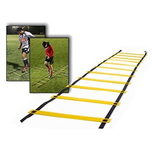 Teenitor 12 rung Agility Ladder Speed ladder Training ladder for Soccer, Speed, Football Fitness Feet Training with Carry Bag 51YuzpFb7UL