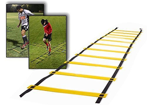 Teenitor 12 rung Agility Ladder Speed ladder Training ladder for Soccer, Speed, Football Fitness Feet Training with Teenitor Carry Bag