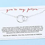 Best Personalized Necklaces Friends Sterling Silver Necklaces - You are My Person Best Friend Gift Two Review