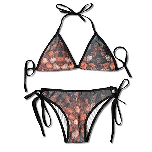 KinForYboby Autumn Leaves Beautiful Trees Women's Hot Beach Surfing Bikini Top - Tamil Hot Women
