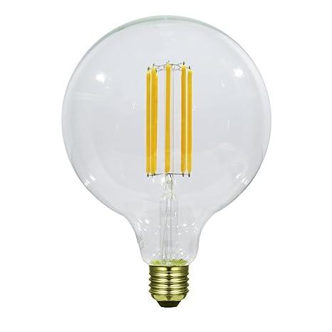 Laes Bombilla Globe Filamento LED E27, 8 W, 125 x 176 mm