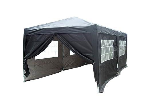 Quictent 3m X 6m Black Easy Pop Up Heavy Duty Steel Outdoor Party Tent Gazebo