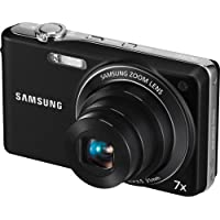 Samsung PL200 - Digital camera - compact - 14.2 Mpix - optical zoom: 7 x - supported memory: SD, SDHC - black Basic Facts Review Image