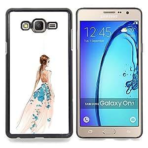 """Planetar ( Muestra de la victoria Mano abstracto blanco"""" ) Samsung Galaxy On7 O7 Fundas Cover Cubre Hard Case Cover"""