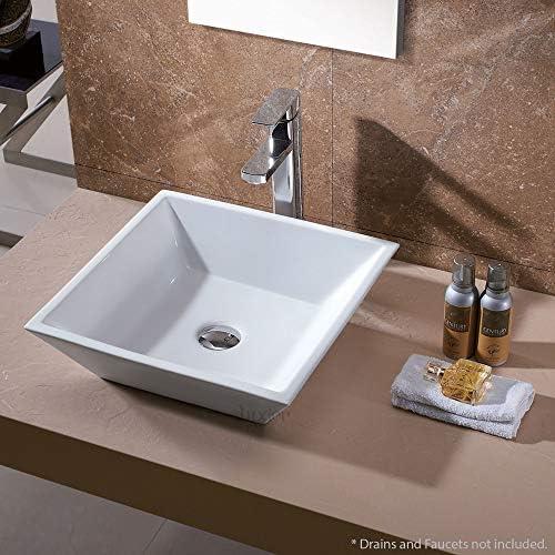 WaaGee Oval Bathroom Vessel Sink Vanity Basin White Porcelain Ceramic Bowl