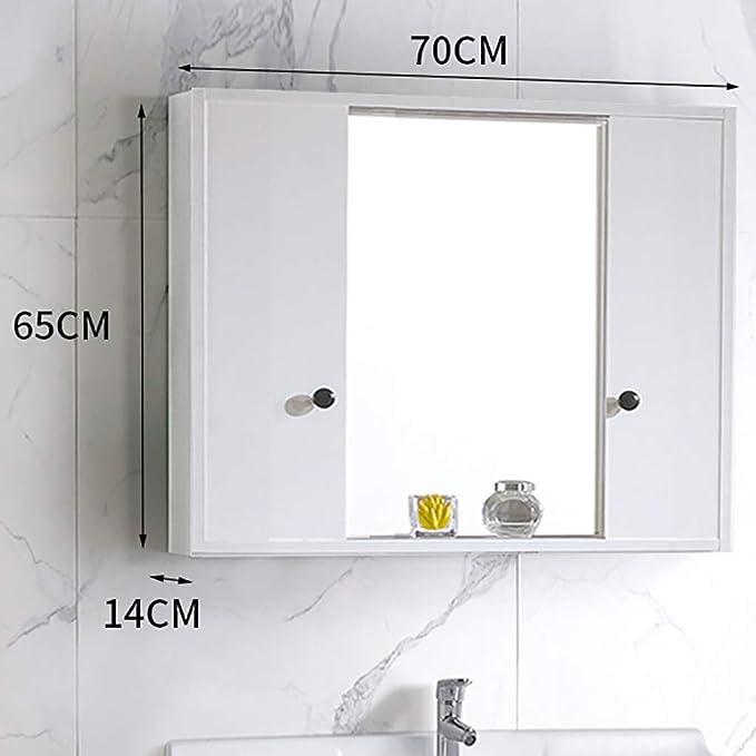 Gabinete de Espejo con Puerta corredera para baño, gabinete de ...