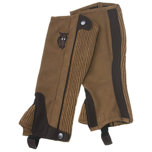 - Tough-1 Childs Half Chaps 12-14 Lt BRN/Chocolate