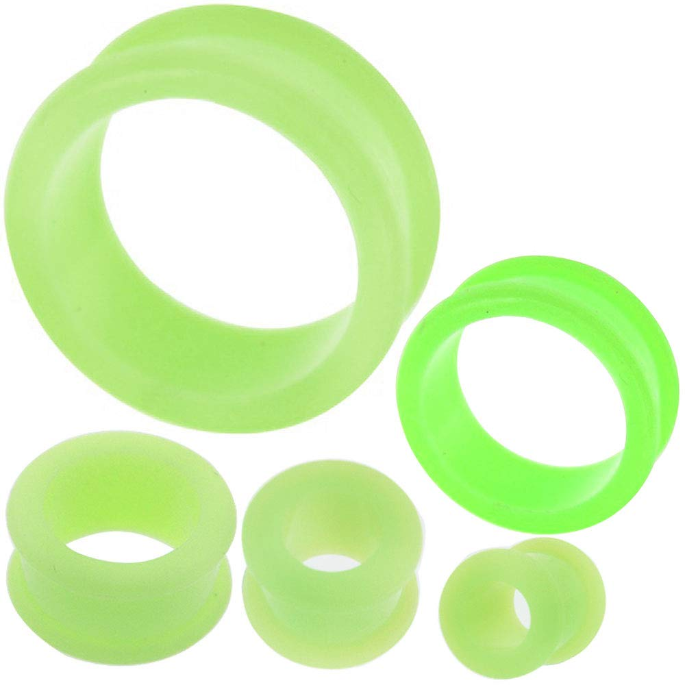 0 00 gauges Ear Plugs Flesh Tunnels Silicone Steel Screw Double Flared Stretcher Taper 5/8 gauges 5/8 16mm by MoDTanOiz - Flesh tunnels (Image #10)