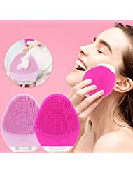 Sonic Electric Facial Cleansing Brush Waterproof Rechargeable Silicone Face Brush,1200 Brush Heads Deep Cleaning,Gentle Exfoliation And Face Massage By Vasrou