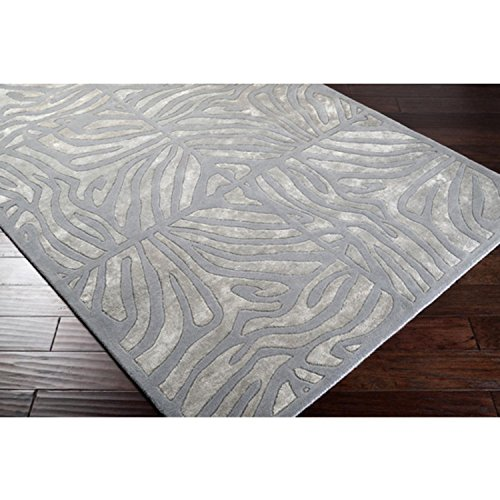 CC Home Furnishings 5' x 8' Burchelli Zebra Chain Dove Gray Wool Area Throw Rug