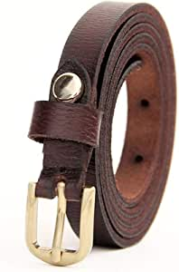 Women's Comfortable Belt Women's Leather Belt Fine Pin Buckle Belt Women's Denim Belt for Tights Leggings Jeans Uniforms