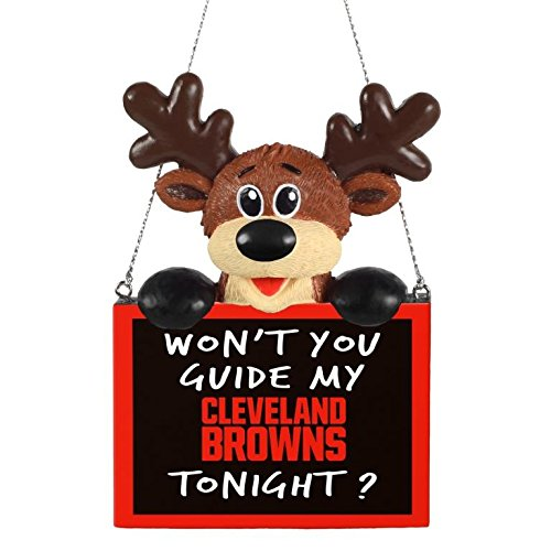 NFL Reindeer With Sign Cleveland Browns