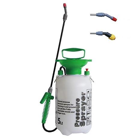 iLOT 5L Mano compresor pulverizador presión con Correa de Hombro para césped y jardín Insectos y
