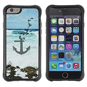 "Hypernova Defender Series TPU protection Cas Case Coque pour Apple Iphone 6 PLUS 5.5 [Blue Sea Beach Waves Arte""]"