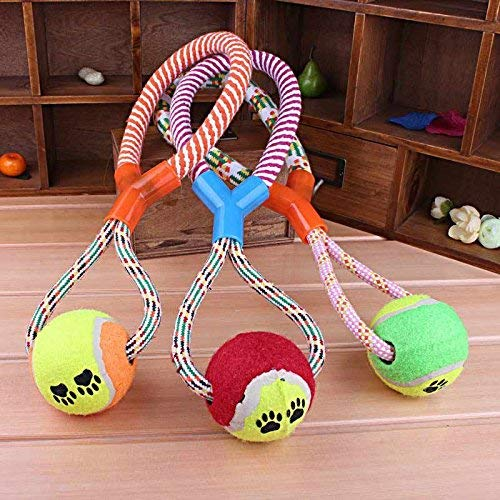 3pcs Rope Braided Ball Dog Chew Toys Puppy Cotton Chewing Ball Bone Knot Indestructible Puppy Dog Toys for Aggressive Chewers