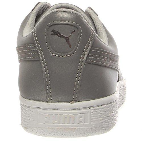 Puma cesta reflectante zapatilla de deporte Silver