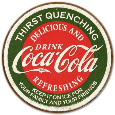 Coca-Cola Part of Every Day Distressed Retro Vintage Tin Sign by Poster Revolution