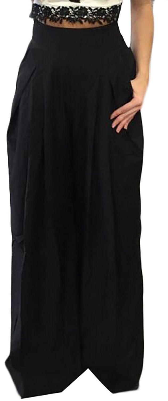 Generic Womens Fashion High Waist Wide Leg Pants