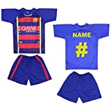 Custom Name & Number FC Barcelona FCB Soccer Jersey Shorts Uniform Kids