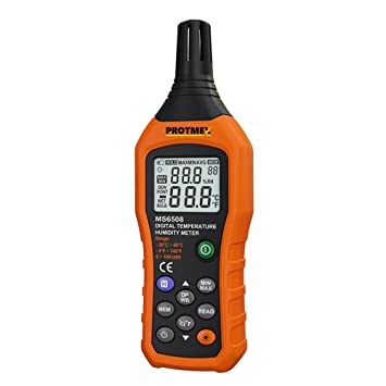 Digital de humedad Termómetro, Protmex MS6508 LCD Digital la Instant de lectura de temperatura metros