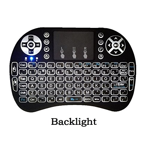 Backlit Mini Keyboard 2.4GHz Multi-media Portable Wireless Handheld Keyboard with Touchpad Mouse for XBox 360, PC, PAD, PS3, Google Android TV Box, HTPC