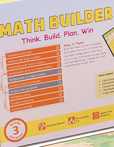 Math Builder Number Scrabble Junior Board Game With Equations and Arithmetic Skills Stem Toy Math Manipulative by LogicRoots (Image #4)