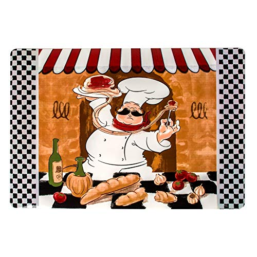 Home Collection Italian Chef Vinyl Placemats, 12x18 in. (Mats Table Chef)