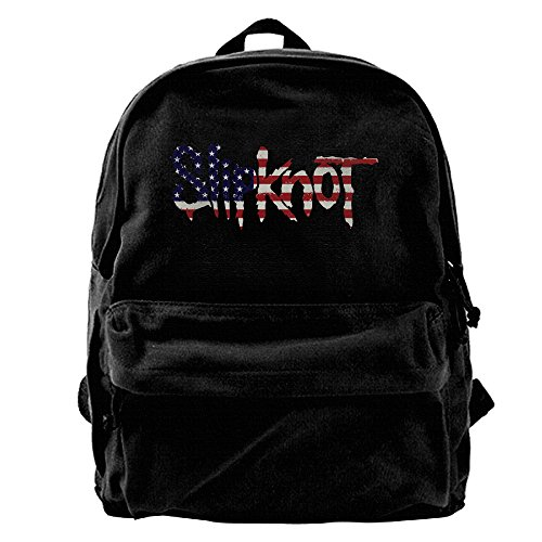 ATTENRY Canvas Backpacks Slipknot US Flag Canvas