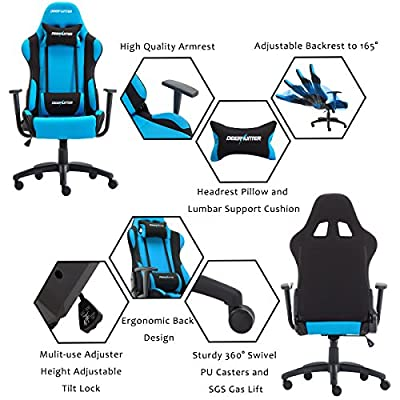 DEERHUNTER Gaming Chair, Swivel Leather Office Chair, High Back Ergonomic Racing Chair, Adjustable Computer Desk Chair with Lumbar Support and Headrest from DEERHUNTER