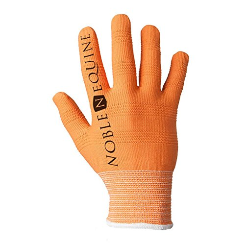 Noble Outfitters Mens True Flex Roping Gloves, Orange, Small