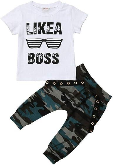 Ropa Niño Conjuntos Verano 2 Piezas 1 Camiseta Blanca + 1 Pantalón Corto Denim Estilo Casual de 1 a 6 Años para Casual, Vacaciones, Colegio