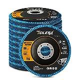 """TOLESA 10-Pack Flap Disc 4.5"""" x 7/8 Inch Zirconia"""
